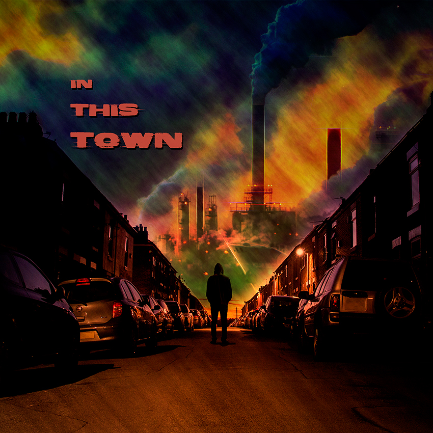 In this town single cover artwork by band KEEF